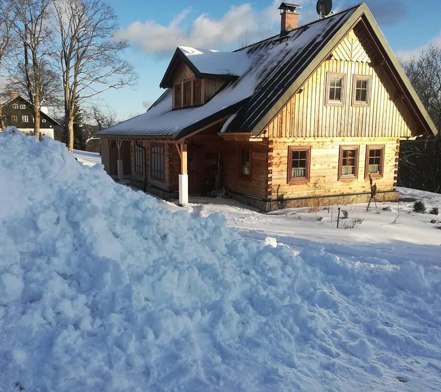 Pořádná hromada sněhu